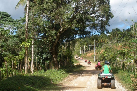 ATV Quad Tour in Samana Peninsula Dominican Republic from Las Terrenas town.